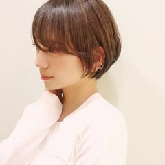 ゆるふわ 斜め前髪 フェミニン 小顔ヘア ヘアスタイルや髪型の写真・画像