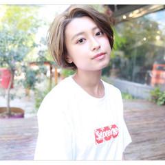 外国人風 ショート フェミニン ヘアアレンジ ヘアスタイルや髪型の写真・画像
