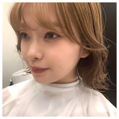 韓国風ヘアー 韓国ヘア パーマ  ヘアスタイルや髪型の写真・画像
