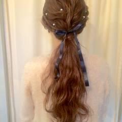 結婚式 編み込み コンサバ 二次会 ヘアスタイルや髪型の写真・画像