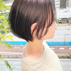 デート 大人かわいい ショートヘア ナチュラル ヘアスタイルや髪型の写真・画像
