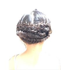 ガーリー セミロング 浴衣ヘア ヘアスタイルや髪型の写真・画像