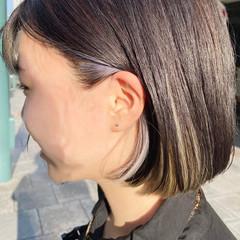 ブリーチカラー ブリーチ ミニボブ ナチュラル ヘアスタイルや髪型の写真・画像