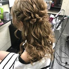 ミディアム 結婚式 ヘアアレンジ デート ヘアスタイルや髪型の写真・画像
