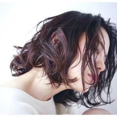 黒髪 モード 大人かわいい ゆるふわ ヘアスタイルや髪型の写真・画像