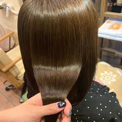 不器用さん向け簡単アレンジ ストレート セミロング 髪質改善 ヘアスタイルや髪型の写真・画像