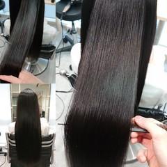 艶髪 縮毛矯正 ロング 髪質改善 ヘアスタイルや髪型の写真・画像