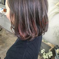 メッシュ ストリート ボブ ハイライト ヘアスタイルや髪型の写真・画像
