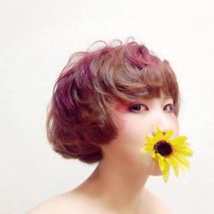 ショート モード グラデーションカラー ヘアスタイルや髪型の写真・画像
