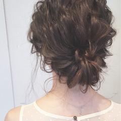 ロング 結婚式 ヘアアレンジ 大人かわいい ヘアスタイルや髪型の写真・画像