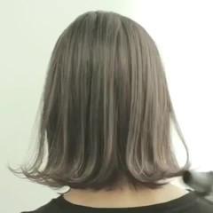 ミルクティーベージュ ミルクティー ボブ ナチュラル ヘアスタイルや髪型の写真・画像