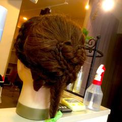 ヘアアレンジ フィッシュボーン 外国人風 編み込み ヘアスタイルや髪型の写真・画像