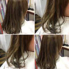 ハイライト ベージュ ダブルカラー ボブ ヘアスタイルや髪型の写真・画像