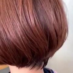ピンクベージュ モード ショート ショートボブ ヘアスタイルや髪型の写真・画像