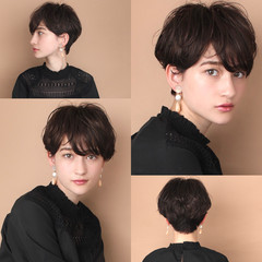 前髪 ショートヘア 30代 40代 ヘアスタイルや髪型の写真・画像