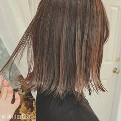 フェミニン ハイライト ゆるふわ 切りっぱなしボブ ヘアスタイルや髪型の写真・画像