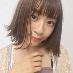 フェミニン ボブ デート 透明感 ヘアスタイルや髪型の写真・画像
