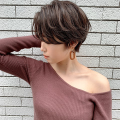 ナチュラル ショート 横顔美人 小顔ヘア ヘアスタイルや髪型の写真・画像