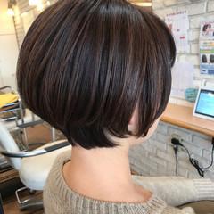 ナチュラル 水素 ショートヘア 透明感カラー ヘアスタイルや髪型の写真・画像