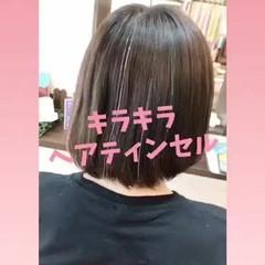 ストレート ガーリー 韓国ヘア カラフルカラー ヘアスタイルや髪型の写真・画像