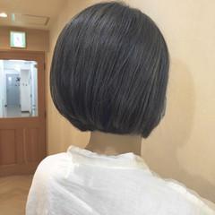 アディクシーカラー ナチュラル グレージュ ミニボブ ヘアスタイルや髪型の写真・画像