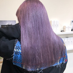 ストリート ラベンダーアッシュ ラベンダーピンク ラベンダーグレー ヘアスタイルや髪型の写真・画像