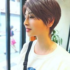 ナチュラル ハイライト ショート ショートヘア ヘアスタイルや髪型の写真・画像