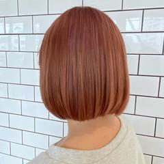 ボブ ピンクラベンダー インナーカラー ピンクバイオレット ヘアスタイルや髪型の写真・画像
