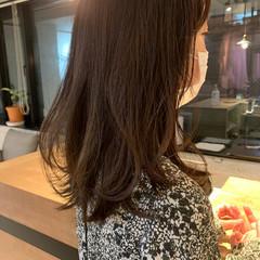 ミディアム 鎖骨ミディアム 韓国ヘア 透明感カラー ヘアスタイルや髪型の写真・画像