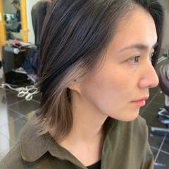ガーリー ヘアアレンジ ヌーディーベージュ インナーカラー ヘアスタイルや髪型の写真・画像