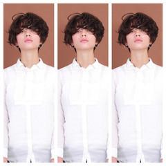 マッシュショート ショートヘア モード ショートボブ ヘアスタイルや髪型の写真・画像
