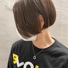 切りっぱなしボブ スキンフェード ミニボブ 刈り上げ女子 ヘアスタイルや髪型の写真・画像