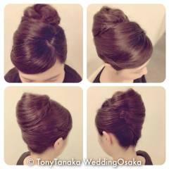 アップスタイル ヘアアレンジ コンサバ 結婚式 ヘアスタイルや髪型の写真・画像