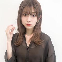 セミロング アンニュイほつれヘア ヘアアレンジ デジタルパーマ ヘアスタイルや髪型の写真・画像