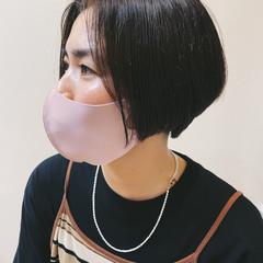 ハンサムボブ 黒髪ショート 黒髪 ハンサムショート ヘアスタイルや髪型の写真・画像