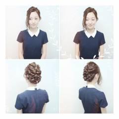 アップスタイル 春 ストリート 結婚式 ヘアスタイルや髪型の写真・画像