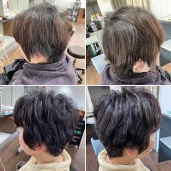 ショートヘア ベリーショート ショートパーマ ショート ヘアスタイルや髪型の写真・画像