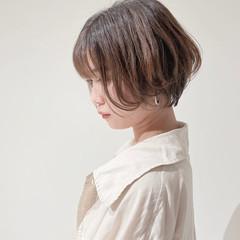 ベリーショート ショートヘア ミニボブ 切りっぱなしボブ ヘアスタイルや髪型の写真・画像