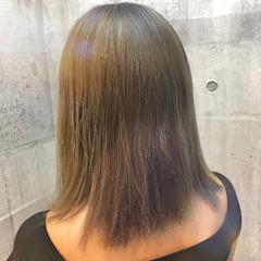 アッシュグレージュ ミディアム 外国人風カラー 秋 ヘアスタイルや髪型の写真・画像