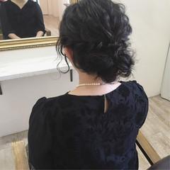 結婚式 ヘアアレンジ お呼ばれ ナチュラル ヘアスタイルや髪型の写真・画像