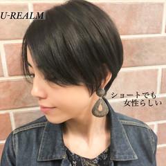 ナチュラル ショート 色気 大人女子 ヘアスタイルや髪型の写真・画像