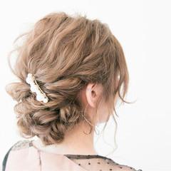 大人女子 ヘアアレンジ 結婚式 ロング ヘアスタイルや髪型の写真・画像