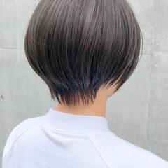 ナチュラル ショートボブ ショートヘア ひし形シルエット ヘアスタイルや髪型の写真・画像