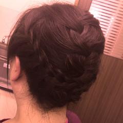 ヘアアレンジ ミディアム ヘアスタイルや髪型の写真・画像