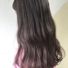 ダブルカラー ラベンダーアッシュ ストリート ロング ヘアスタイルや髪型の写真・画像