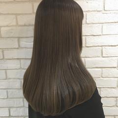 ロング ナチュラル 艶髪 トリートメント ヘアスタイルや髪型の写真・画像