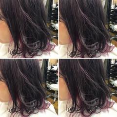 ストリート 暗髪 くせ毛風 ダブルカラー ヘアスタイルや髪型の写真・画像