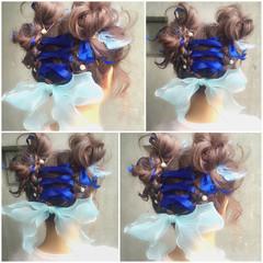 ミディアム ゆるふわ ハーフアップ ヘアアレンジ ヘアスタイルや髪型の写真・画像