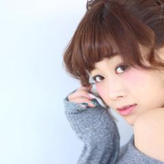 ショート 大人かわいい フェミニン 簡単ヘアアレンジ ヘアスタイルや髪型の写真・画像