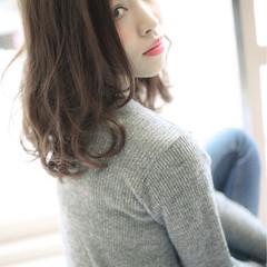 リラックス ミディアム 外国人風カラー 秋 ヘアスタイルや髪型の写真・画像